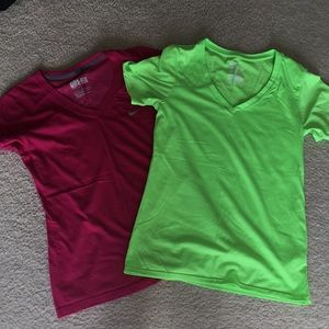 Two (like new) Nike Dry Fit t-shirts